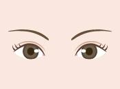 左右の目が非対称なので左右対象の二重にしたい