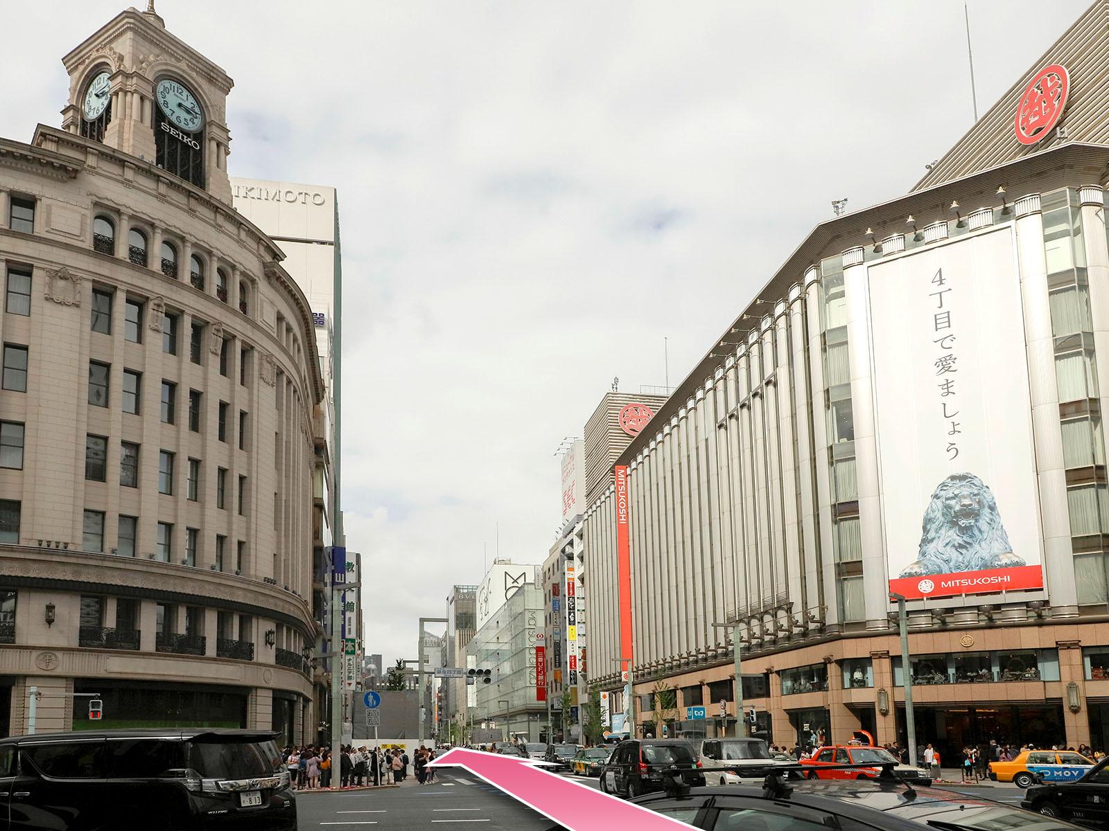 東京中央美容外科銀座二丁目院東京メトロ銀座駅ルート02