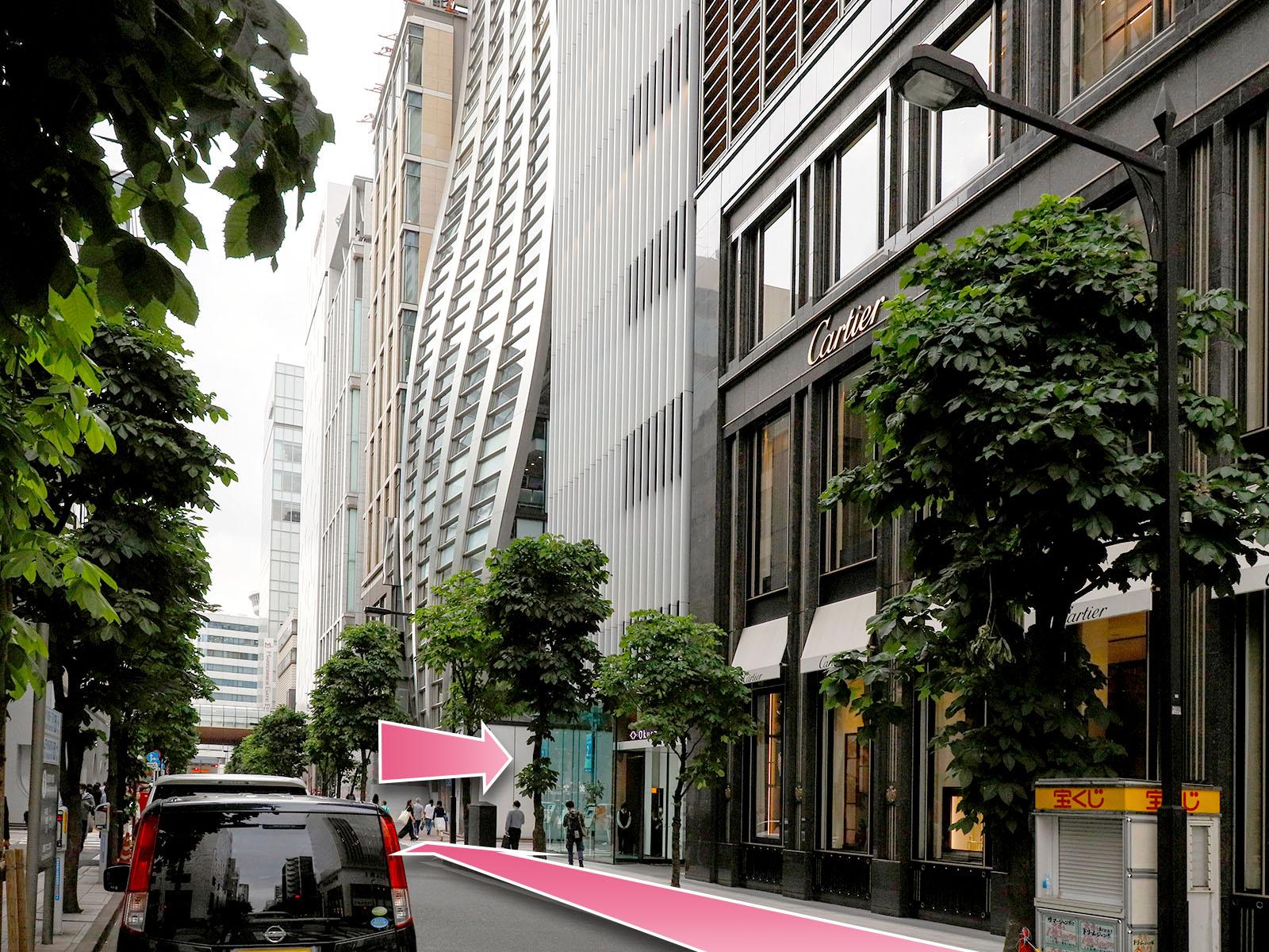 東京中央美容外科銀座二丁目院東京メトロ銀座一丁目駅ルート04