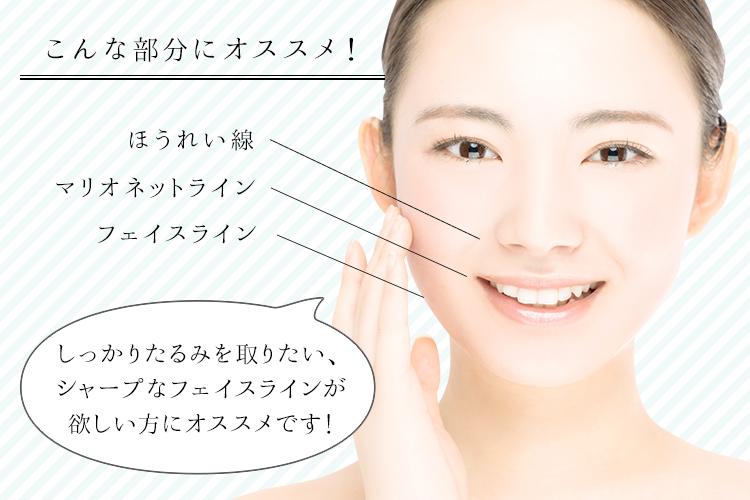 TCB式小顔美肌再生はこんな部分におすすめ!