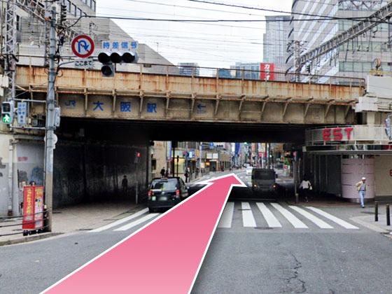 東京中央美容外科梅田茶屋町院JRルート07