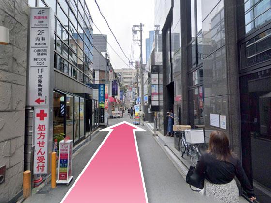 東京中央美容外科梅田茶屋町院JRルート11